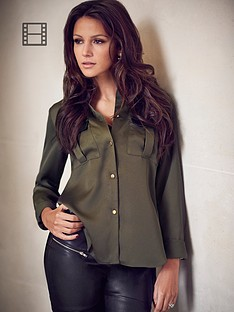 lipsy-michelle-keegan-pu-pocket-blouse