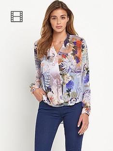 glamorous-wrap-front-blouse