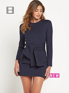 lavish-alice-tie-detail-mini-dress