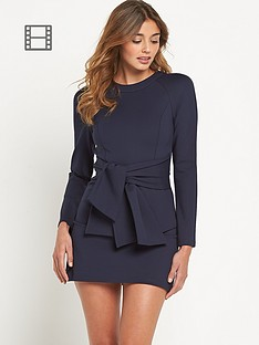 lavish-alice-tie-detail-mini-dress