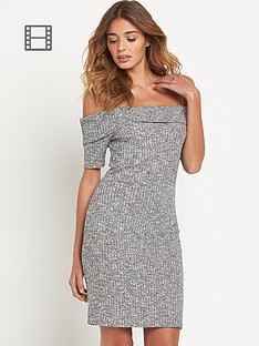 lipsy-rib-bardot-midi-dress
