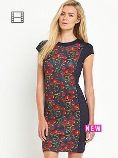 ted-baker-cherry-print-panel-bodycon-dress