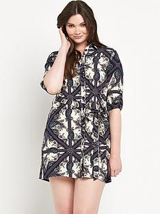 ax-paris-curve-printed-shirt-dress
