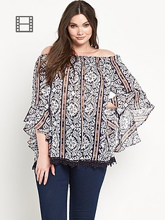 ax-paris-curve-bell-sleeved-top