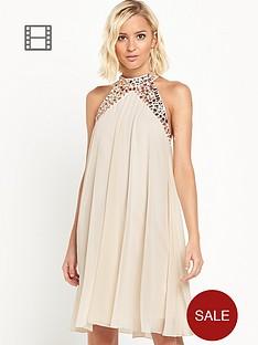 lipsy-chiffon-jewel-neck-dress