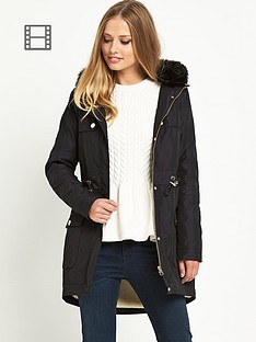 ted-baker-quilted-panel-dipped-hem-parka
