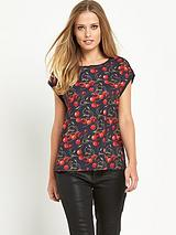 Cherry Layered Open Back Top
