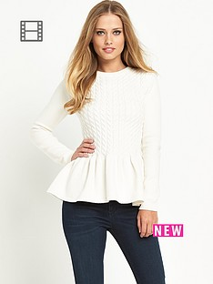 ted-baker-cable-peplum-knit-jumper