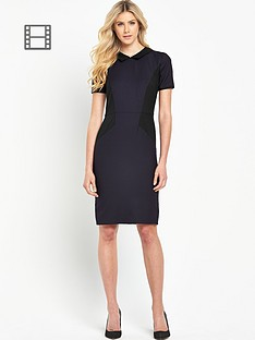 south-collared-panel-pencil-dress