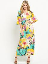 Jersey Deep V-Neck Maxi Dress