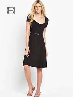 south-tall-sweetheart-neck-tea-dress-black
