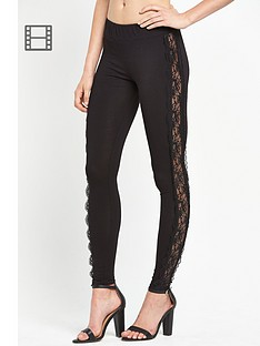south-lace-trim-panel-jersey-leggings