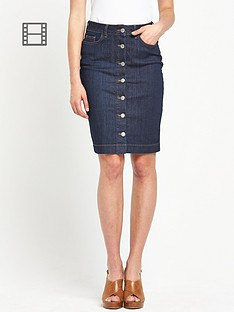 south-button-through-denim-midi-skirt