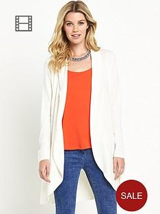 south-long-sleeve-curved-hem-cardigan