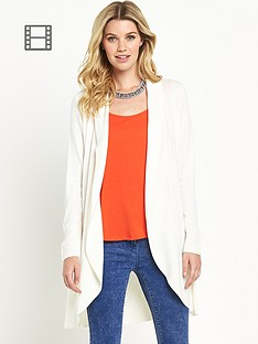 south-long-sleeve-curved-hem-cardigan