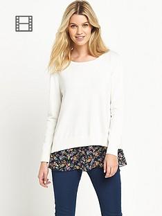 south-floral-print-slit-back-jumper