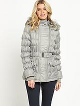 Petite Double Zip Padded Coat