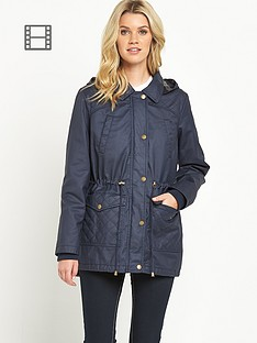 south-check-hooded-wax-effect-coat