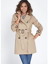 Loose Shorter Length Trench Coat