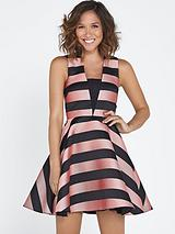 Stripe Full Skirt Dress