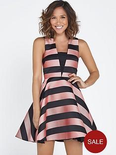 myleene-klass-stripe-full-skirt-dress