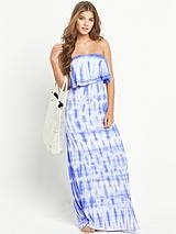Tye Dye Bandeau Maxi Dress
