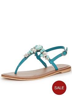shoe-box-rudy-chunky-jewel-toe-posts-turquoise