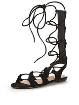 Skyler Knee High Lace Up Gladiator Sandals