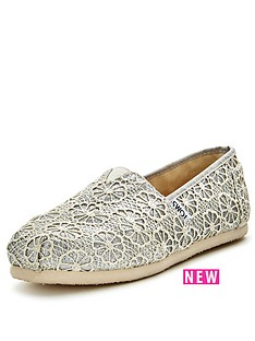 toms-classic-silver-crochet-slip-on-espadrille
