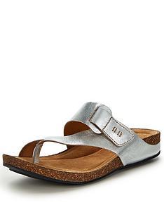 clarks-perri-coast-toe-post-sandals-silver