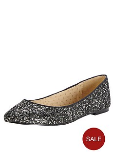 oasis-glitter-ballerina-shoes