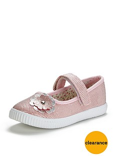 ladybird-younger-girls-shannon-ballerina-plimsolls