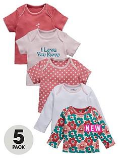 ladybird-baby-girls-love-you-tops-5-pack