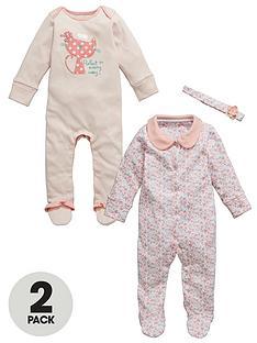 ladybird-babys-girls-pretty-gifting-sleepsuit-2-pack