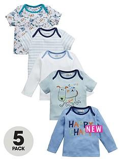 ladybird-baby-boys-happy-chappy-tops-5-pack