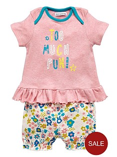 ladybird-baby-girls-too-much-fun-value-shorts-set