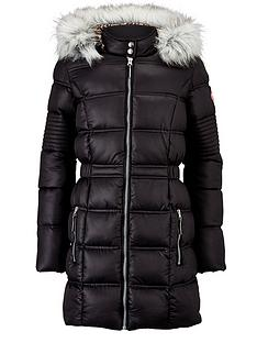 freespirit-girls-longline-padded-coat-with-faux-fur-hood