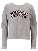 Girls Boxy Unicorn Sweater
