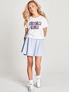 freespirit-girls-glitter-print-t-shirt-and-denim-look-skater-skirt-2-piece-set