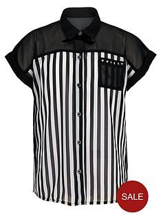 freespirit-girls-stud-and-stripe-shirt-with-cami-2-piece