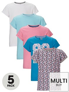 freespirit-girls-fashion-basic-t-shirts-5-pack