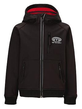 Animal Boys Bonded Fleece Tech Jacket with Hood