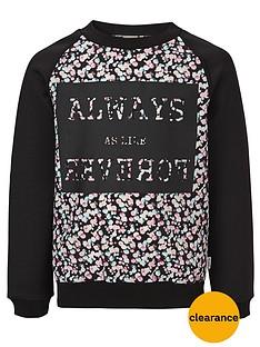 name-it-girls-printed-crew-neck-sweater