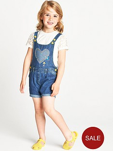 ladybird-toddler-girls-heart-applique-short-dungarees-and-schiffli-t-shirt