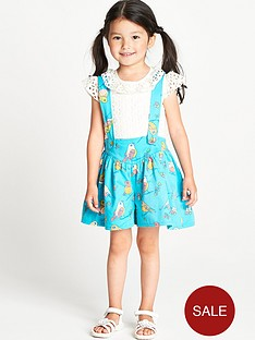 ladybird-toddler-girls-poplin-bird-print-shorts-and-braces-set