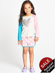 ladybird-toddler-girls-crew-neck-heart-sweatshirt-with-jersey-shorts