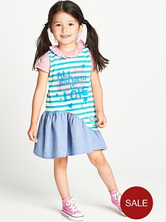ladybird-toddler-girls-slogan-curved-hem-dress