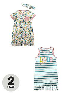 ladybird-toddler-girls-fringe-detail-dresses-and-headband-2-pack