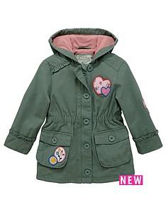 ladybird-toddler-girls-fleece-khaki-parka-with-hood