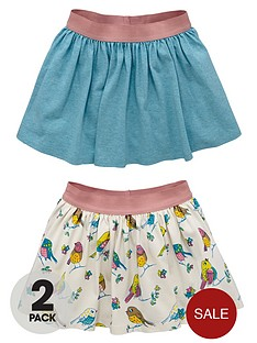 ladybird-toddler-girls-marl-and-bird-print-skirts-2-pack